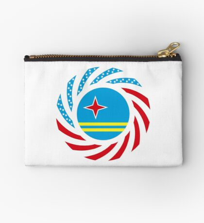 Aruban American Multinational Patriot Flag Series Zipper Pouch