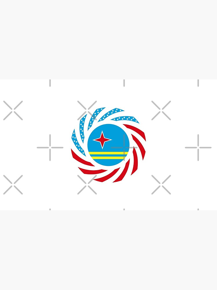 Aruban American Multinational Patriot Flag Series by carbonfibreme