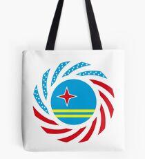Aruban American Multinational Patriot Flag Series Tote Bag