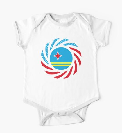 Aruban American Multinational Patriot Flag Series Kids Clothes