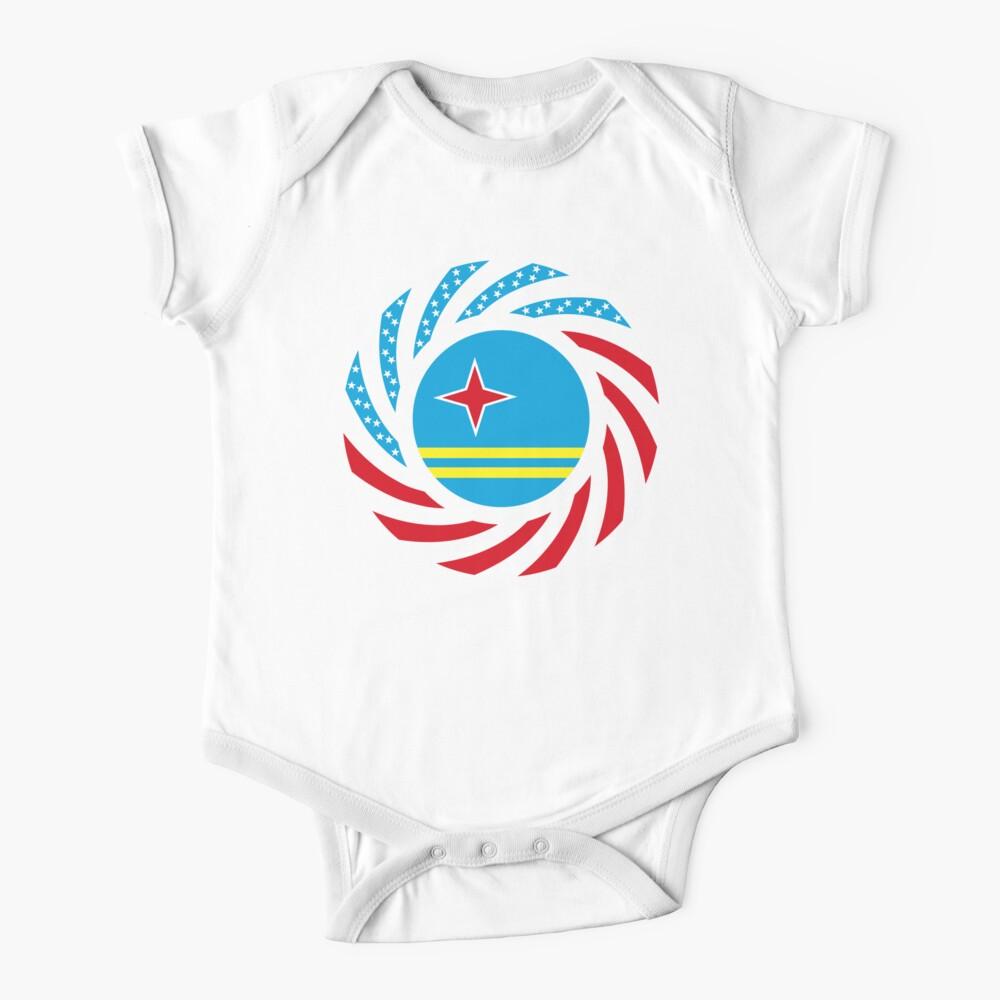 Aruban American Multinational Patriot Flag Series Baby One-Piece
