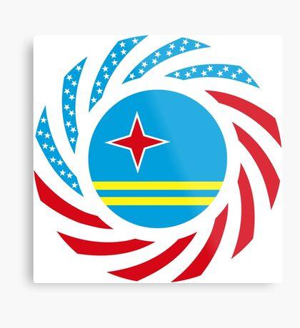 Aruban American Multinational Patriot Flag Series Metal Print