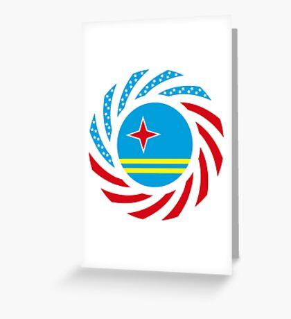 Aruban American Multinational Patriot Flag Series Greeting Card
