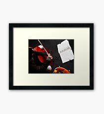 Notes Framed Print
