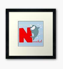n for narwhal Framed Print