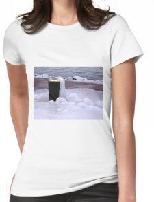 Frozen Bin  Womens Fitted T-Shirt