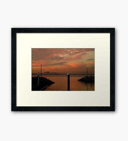 Sunset Limeberners Point,Geelong Framed Print