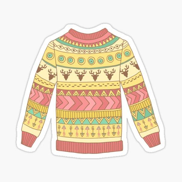Cute cozy sweater Sticker