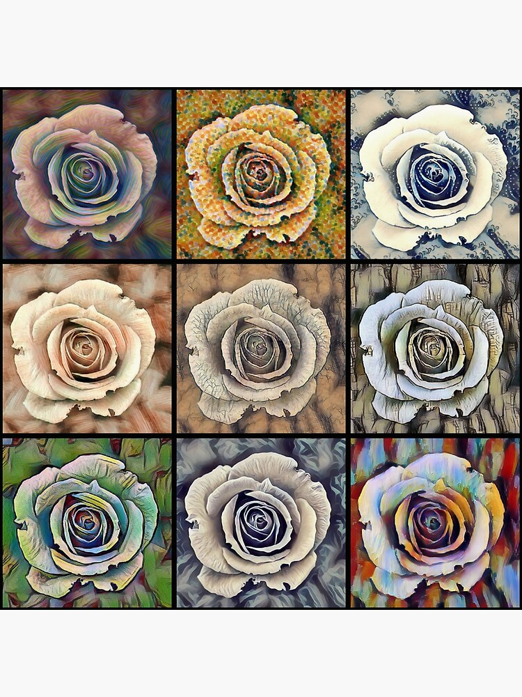 Rose Floral Pop Art by Printpix