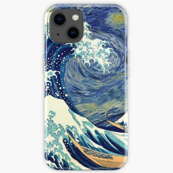 Starry Night The Great Wave Off Kanagawa iPhone Soft Case