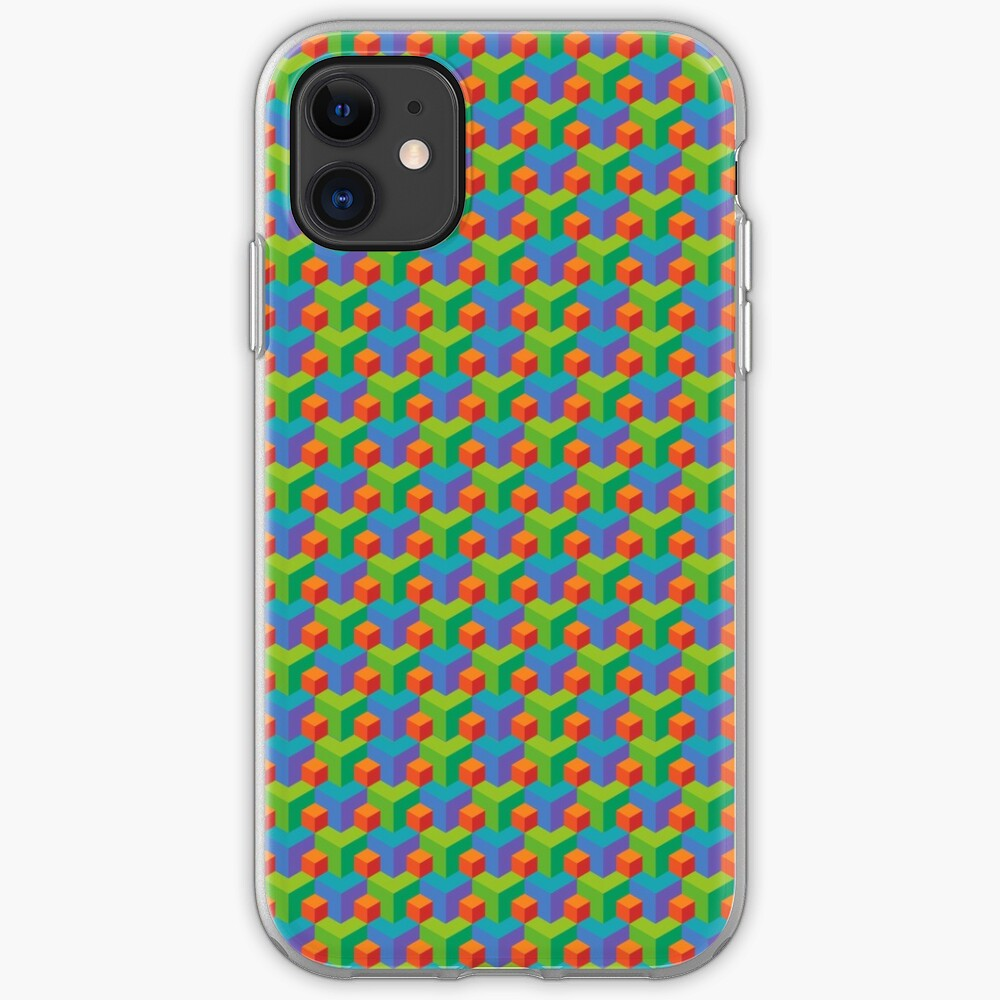 3D Block Pattern  iPhone Case & Cover