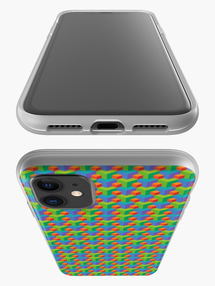 Alternate view of 3D Block Pattern  iPhone Case & Cover