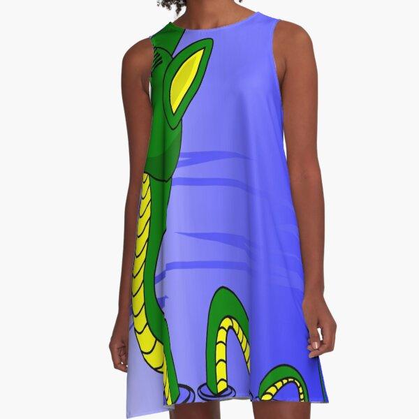 Loch Ness Drawing A-Line Dress