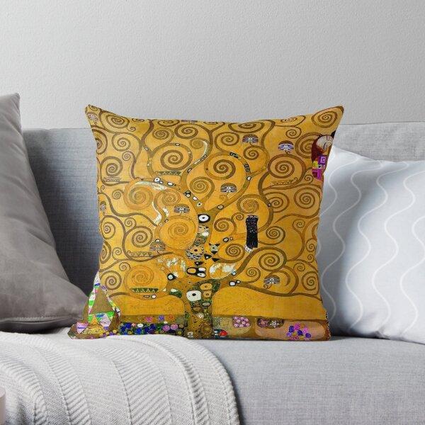 Arbre de vie Gold Version Gustav Klimt Coussin