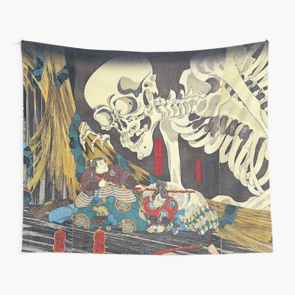 Utagawa Kuniyoshi Takiyasha The Witch And The Skeleton Spectre 1847 Tapestry