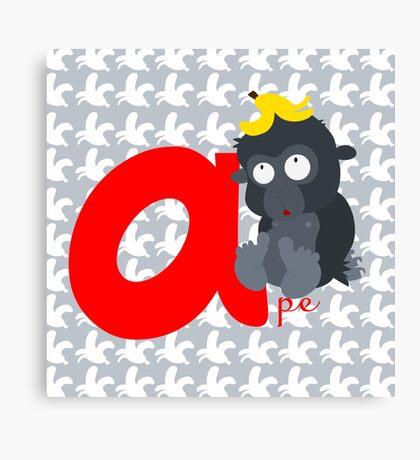 a for ape Canvas Print