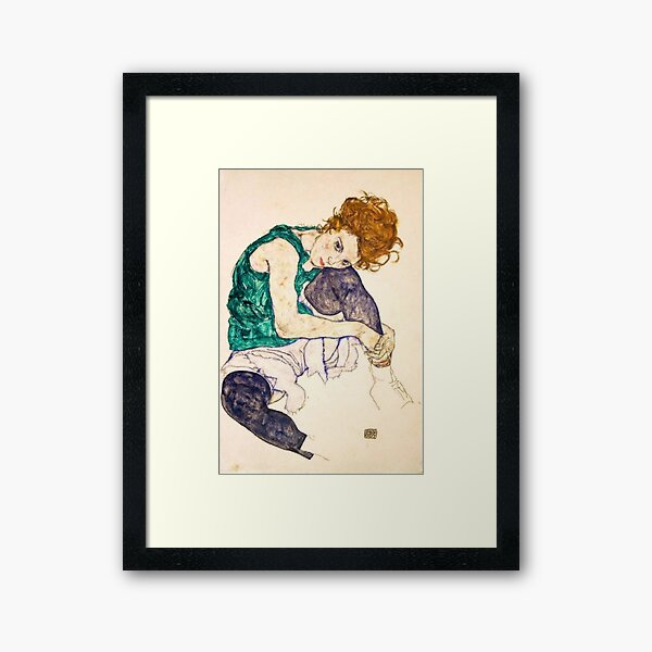 Egon Schiele Seated Woman Framed Art Print