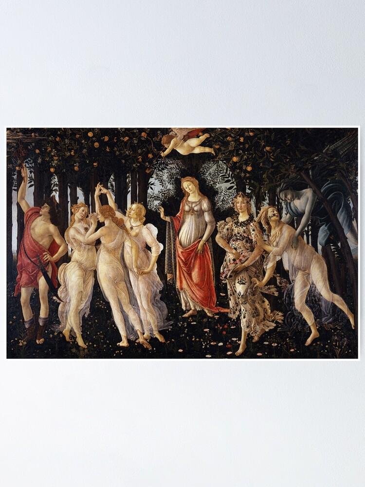 Botticelli primavera painting Vintage Poster