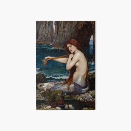 Mermaid John William Waterhouse Art Board Print