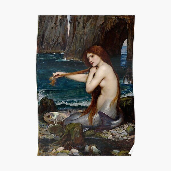 Mermaid John William Waterhouse Poster