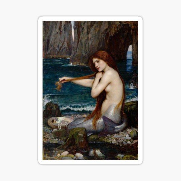 Mermaid John William Waterhouse Sticker