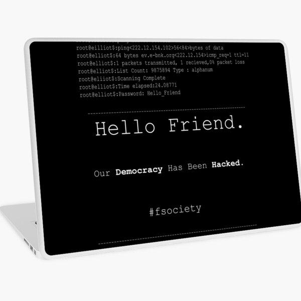 Hello Friend@fsociety Laptop Skin