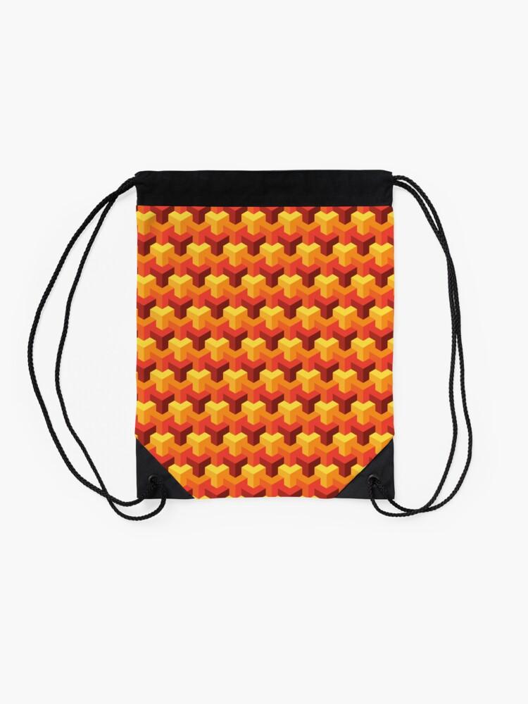 Alternate view of Hot Triad Pattern Drawstring Bag