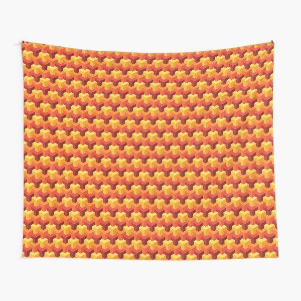 Hot Triad Pattern Tapestry