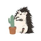 Hedgehog vs. Cactus by Samantha Fowler