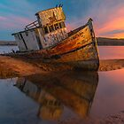 Point Reyes Shipwreck, Sunrise by photosbyflood
