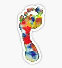 Footprint - Color art Sticker