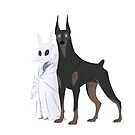 Ghost Girl and her Doberman Guard by Samantha Fowler