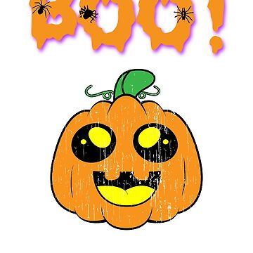 Boo! Cute Ghost Halloween Holiday T shirt by we1000