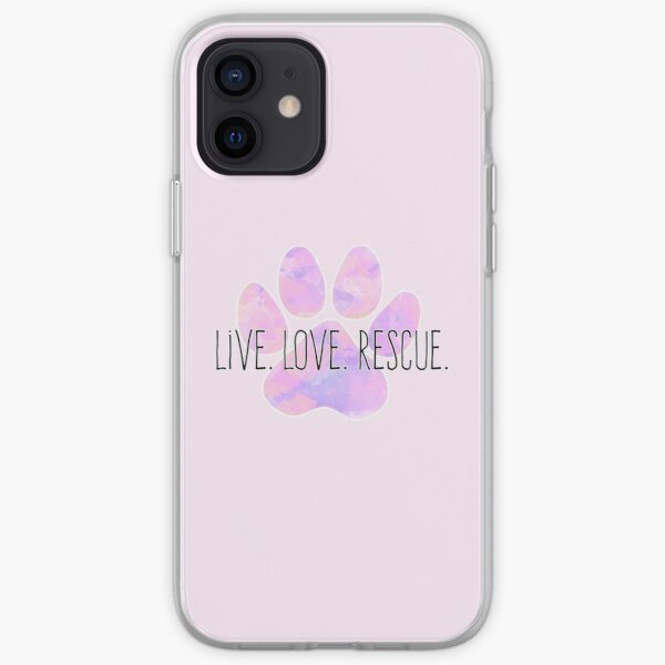 Live Love Rescue Dog Paw iPhone Soft Case