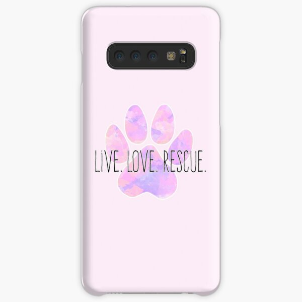 Live Love Rescue Dog Paw Samsung Galaxy Snap Case