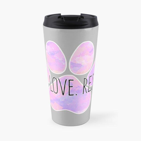 Live Love Rescue Dog Paw Travel Mug