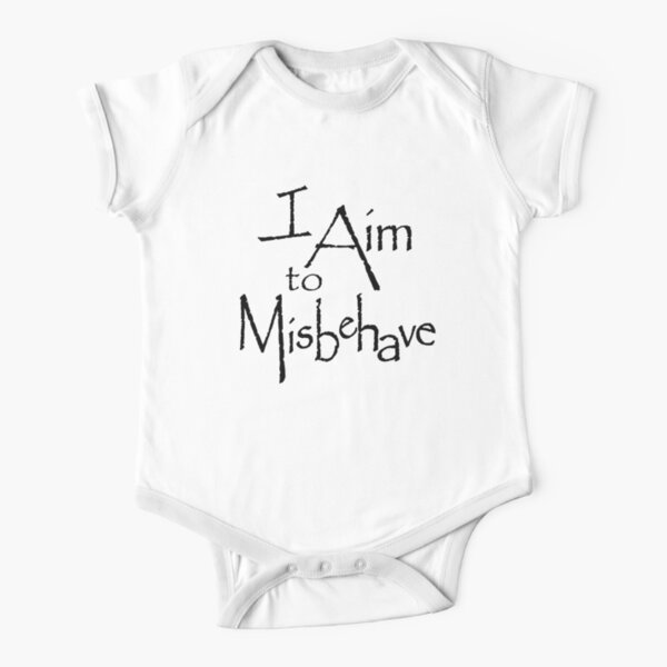 I Aim to Misbehave Short Sleeve Baby One-Piece