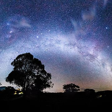 Milky way galaxy arch over the gum trees by andiemeganb