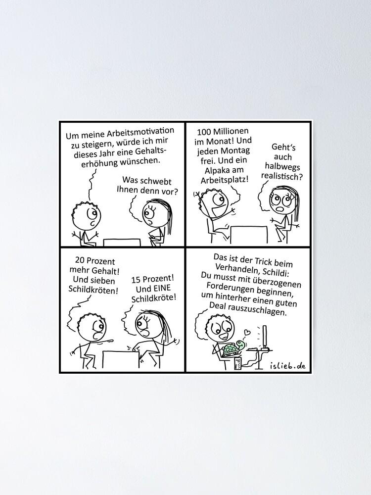 Alternative Ansicht von Gehaltserhoehung islieb Poster
