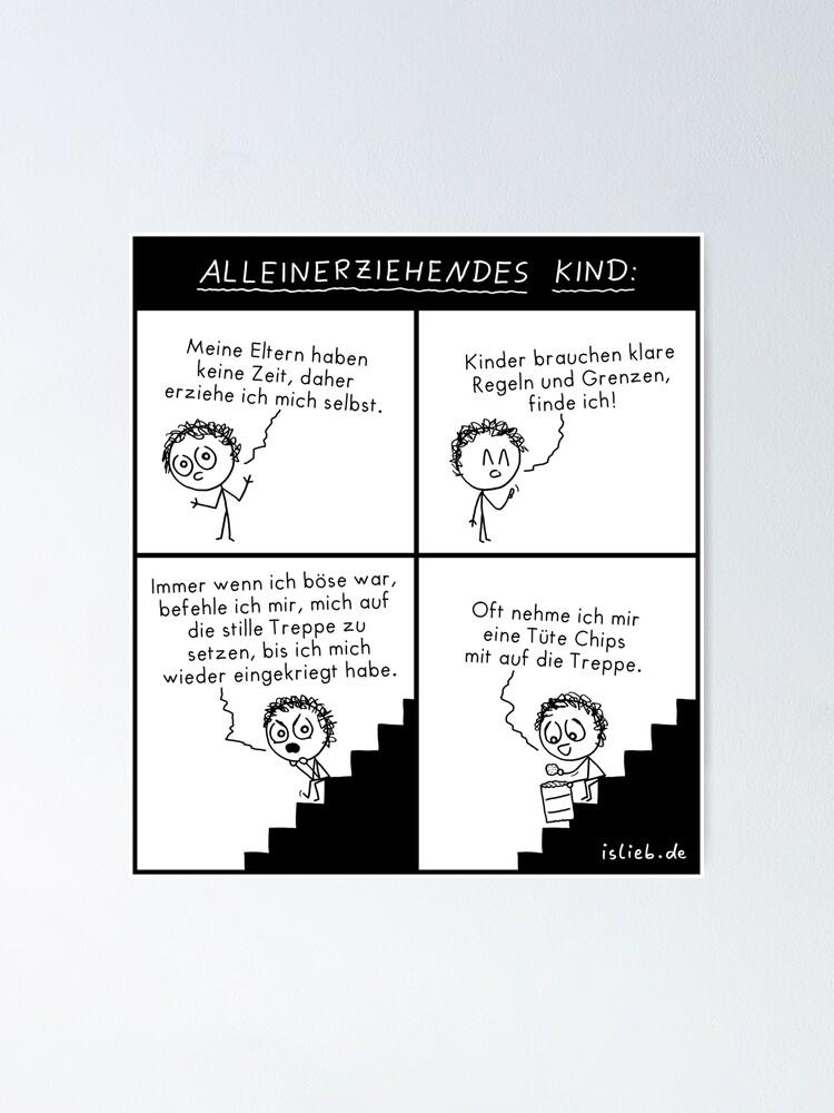 Alternative Ansicht von Alleinerziehendes Kind Poster