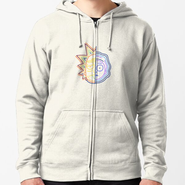 Abstract Rick Zipped Hoodie