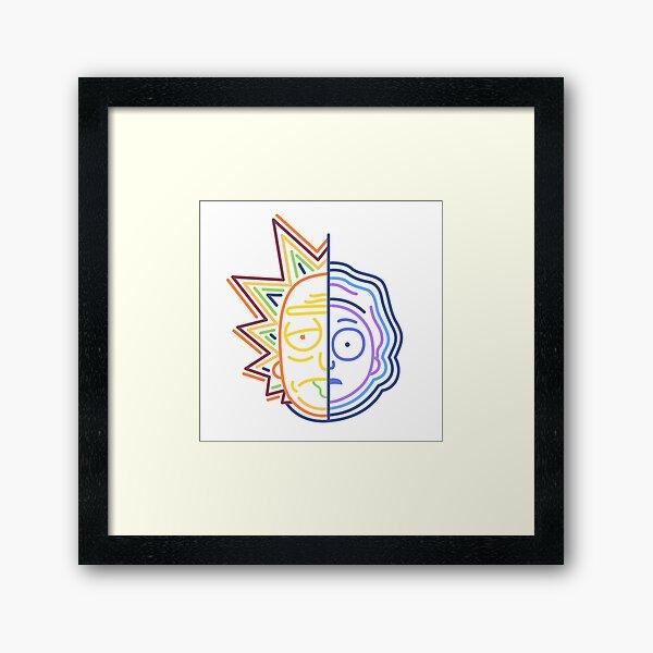 Abstract Rick Framed Art Print