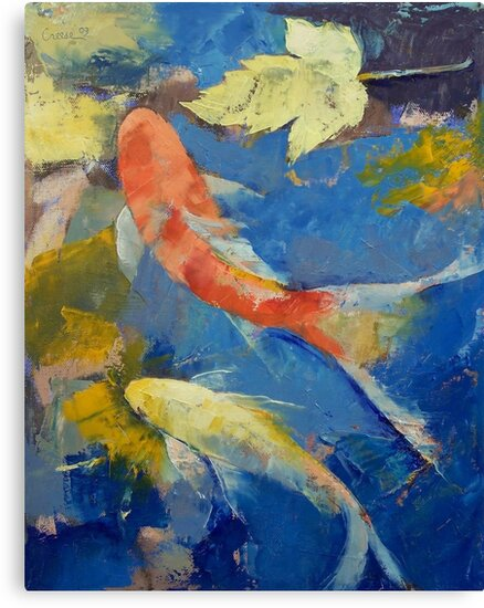Autumn Koi Garden by Michael Creese