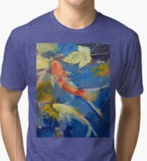 Autumn Koi Garden Tri-blend T-Shirt
