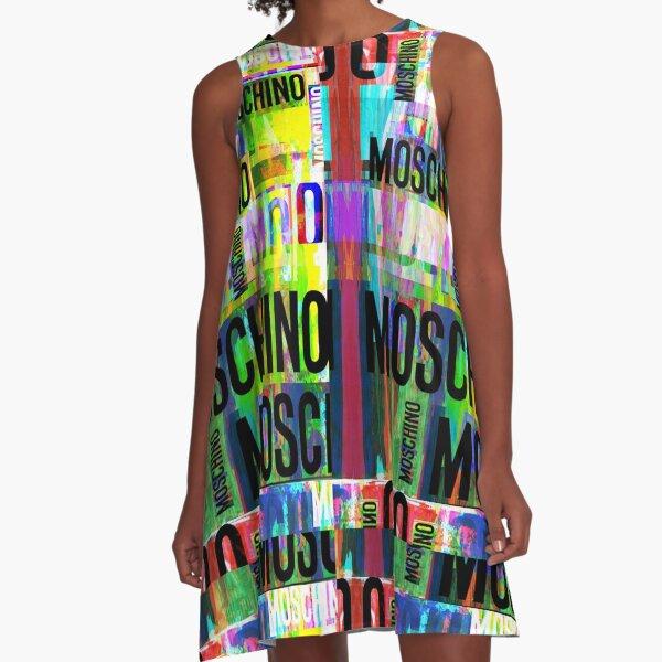 Moschino Art Collage A-Line Dress