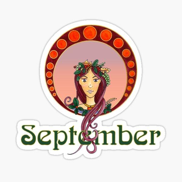 Lady September Sticker