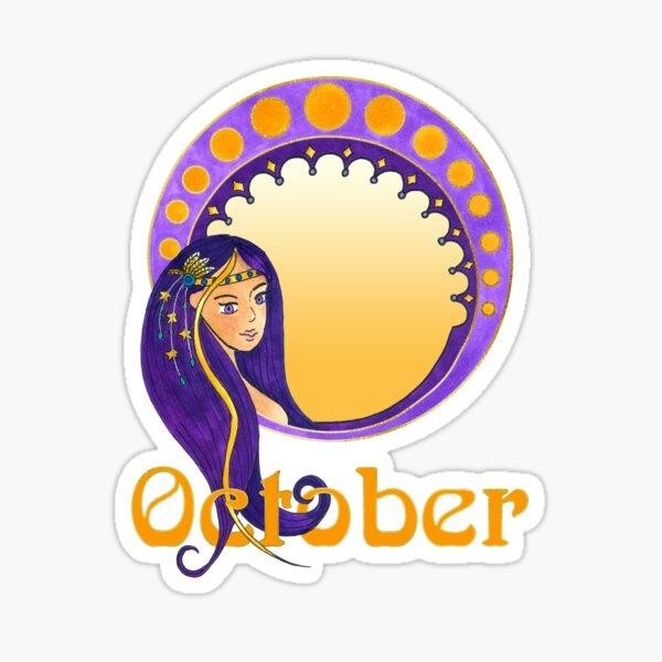 Lady October Sticker