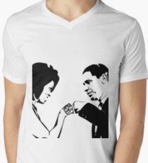 RESIST: Obama Fist Bump V-Neck T-Shirt