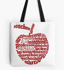 Teacher in world languages apple Tote Bag