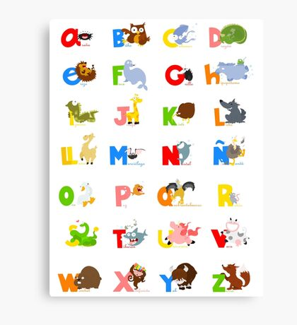 ABC (spanish) Canvas Print